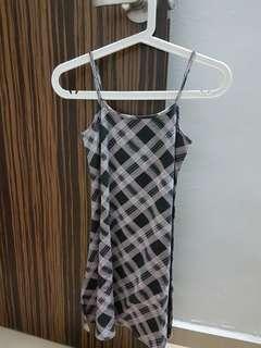 [Instock] Checkered Spag A Line Dress