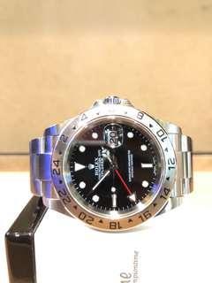 Pre Owned Rolex Oyster Explorer II 16570 Black Dial Automatic Steel Casing Bracelet