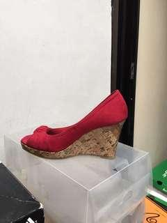 Red Wedges Shoes