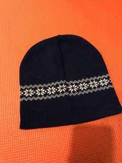雪花  聖誕花 寶藍色 冷帽