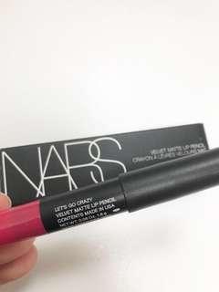 NARS Lets Go Crazy Velvet Matte Lip Pencil. Deluxe mini size.
