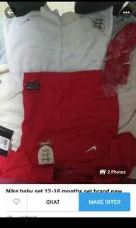 Nike england baby set brand new 12-18 months