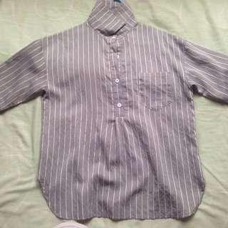 Female striped shirt blouse