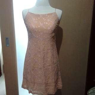 Dainty Peach Dress
