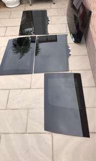 日本原裝黑玻璃車窗,一套5件Stepwgen RK5