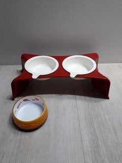 Cat/Dog Food & Water Bowl