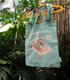 Retro Teal Tote Bag