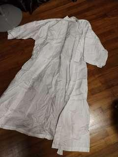 (Free NM)Used once Cotton White Robe