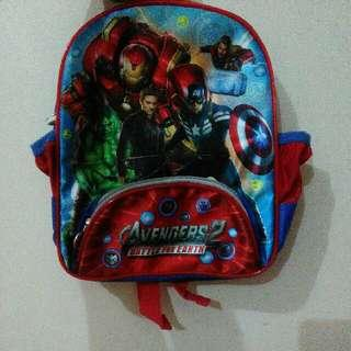 New Tas Anak TK PAUD Playgroup Kid Bag Captain America Superhero