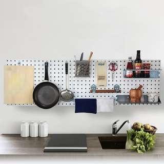 洞洞板 釘版 掛牆 收納神器 置物 工具 廚房