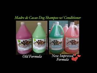 NEW Improved Madre de Cacao Dog Shampoo with Conditioner