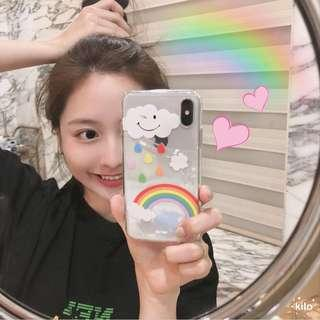 [PO] transparent rainbow iphone case