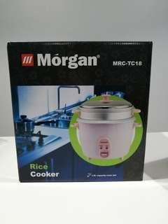 Morgan Rice Cooker with steam rack MRC-TC18 1.8L. Free food container