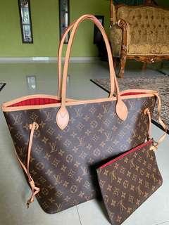 Authentic Louis Vuitton (LV) Neverful mm