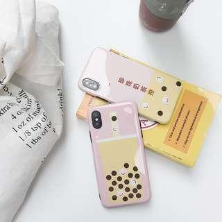 [PO] bubble tea hard iphone case