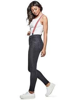 🚚 guess super high-rise suspender jean