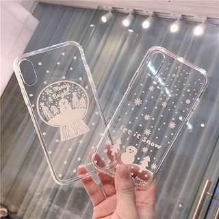 [PO] transparent snow globe iphone case