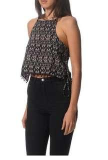MNG casual boho peasant festival top 'etnitop' size M