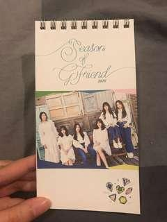 GFRIEND Season Greetings 2018 Mini Desk Calendar