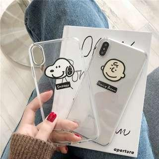 [PO] transparent snoopy / charlie brown iphone case