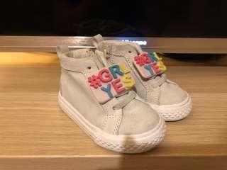 Zara Baby Hi-Top Sneakers (Size 19)