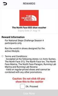 North face shoe $50 voucher.