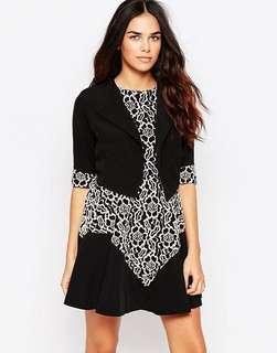 Hedonia Jacket with Lace Sleeve