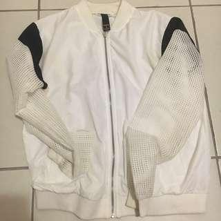 Mesh white bomber jacket