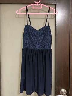 Navy blue lace dress S