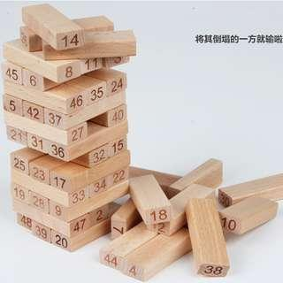 Jenga with Numbering