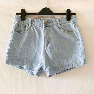 Korean Ulzzang High Waist Shorts (Light)