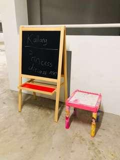 Ikea Easel children coloring pink table