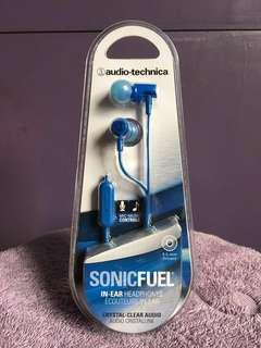 Audio Technica SonicFuel Earphones with In-Line Mic & Control ATH-CLR100iS Blue