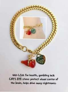 Lucky Wu-Lou charm and cats eye stone