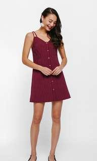 Lovebonito linette pinstripe camisole dress