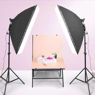 [For rent] LED Softbox Photography Lighting Kit