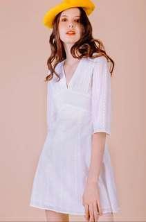 ♡Broderie Summer Dress in White