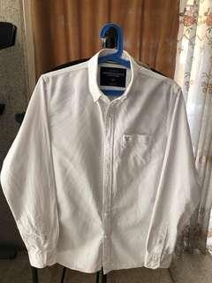 American Eagle Outfitters White button polo