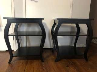 End Tables - Black Two for $60