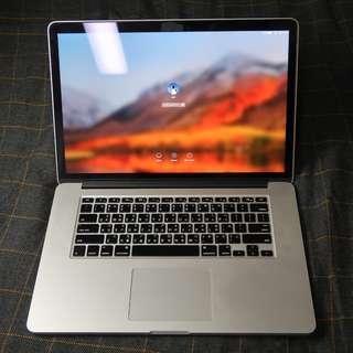 2013年末頂規15吋Macbook pro+充電器*2+隱藏microSD卡