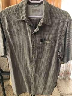 Columbia Gray Short Sleeves Button Polo