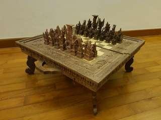 Balinese Hand made Chess Set