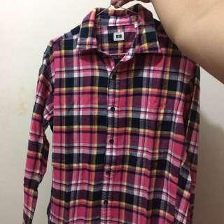 Flannel Uniqlo Pink