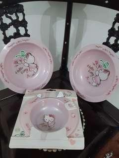 Hello Kitty Baby Plate and Bowl 3pcs