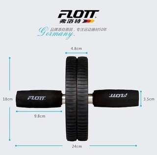 🚚 FLOTT Sport Fitness Abs Roller Dual Wheel
