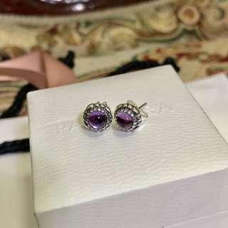 Pandora February Earrings