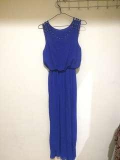 Long dress blue