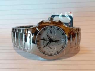 Longines 浪琴錶,自動機械計時錶,全錶呔金屬制,輕巧,38mm,男女適宜。全新 Full Set.