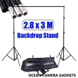 Heavy Duty 2.88x3m Photo Studio Backdrop Photography Background Support Stand Kit Event backdrop