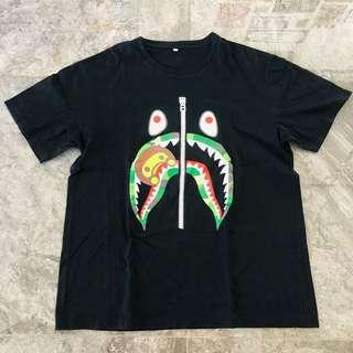 (PRELOVED) bape baby milo camo shark tshirt